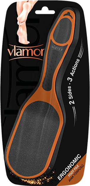 Vlamor Ergonomic Foot File 3 Actions